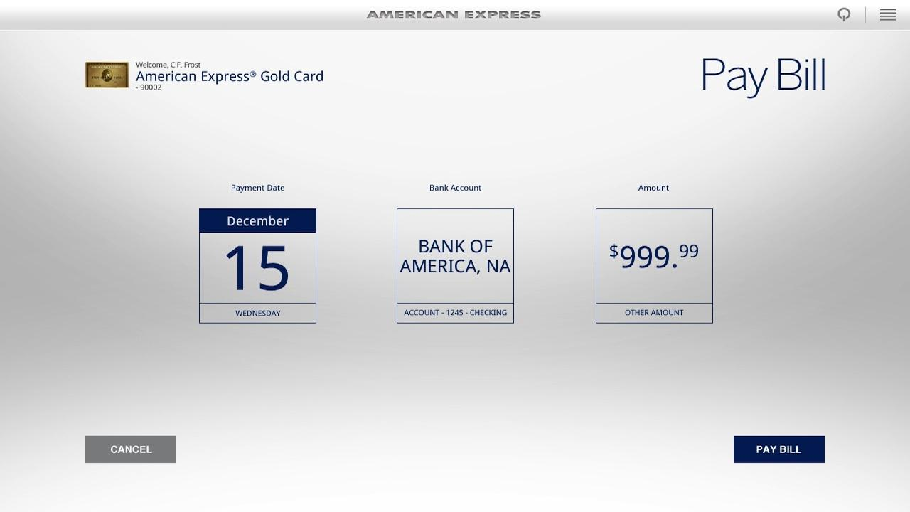 Amex for Tablet- screenshot