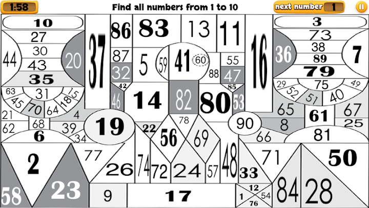 90 numbers Android App Screenshot