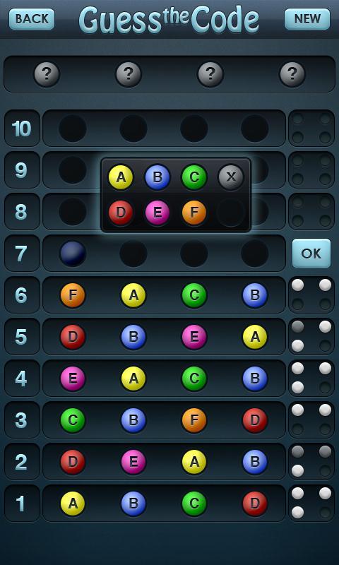 Guess the Code Pro- screenshot