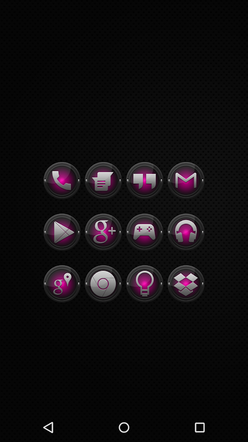 Black and Pink - Icon Pack - screenshot