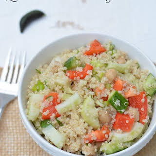 Quinoa Salad with Finger Limes.
