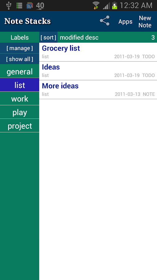 Note Stacks: Notepad Notebook - screenshot