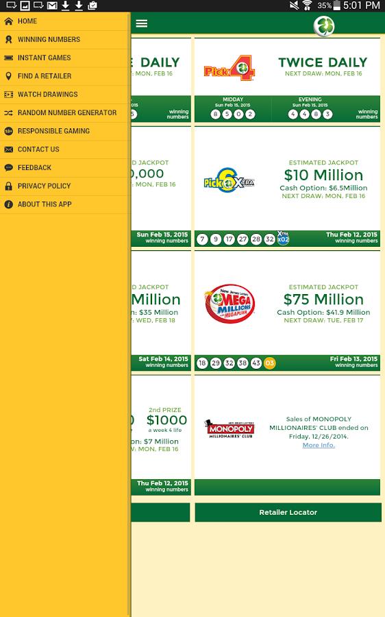 New Jersey Lottery - screenshot