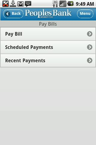 The Real Peoples Bank Mobile - screenshot