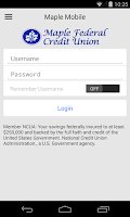 Screenshot of Instant Maple Mobile Banking