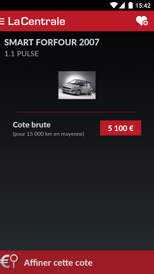 La Centrale voiture occasion - screenshot