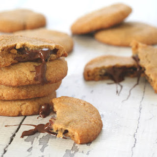 Chocolate Stuffed Peanut Butter Cookies
