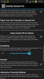 Gravity Screen Pro - On/Off - screenshot thumbnail