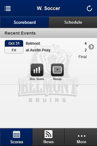 Belmont Bruins Front Row