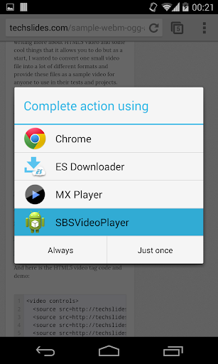 Side-By-Side Video Player