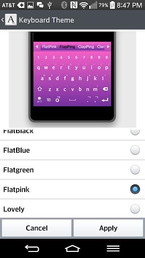 FlatPink Keyboard For LGHome
