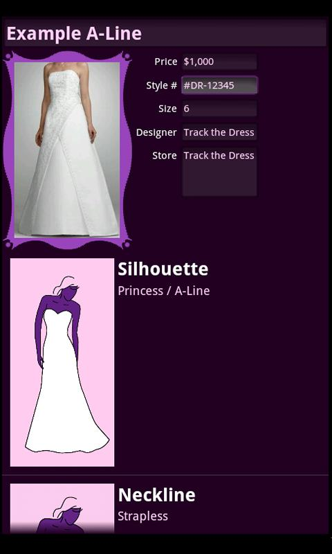 Track the Dress Lite- screenshot