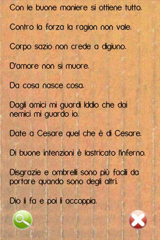 Proverbi Italiani - screenshot