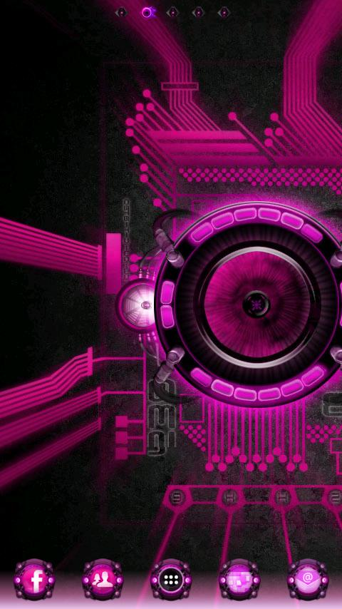 Pink Bionic Live Wallpaper PRO - screenshot