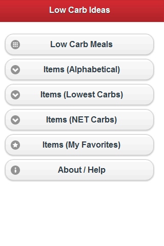 Low Carb Foods- screenshot