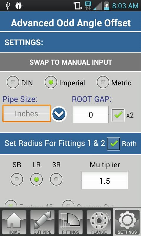 Pipe Fitter Calculator - screenshot