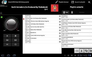 Screenshot of Droid MPD Client HD