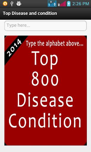 Top 800 Disease Condition