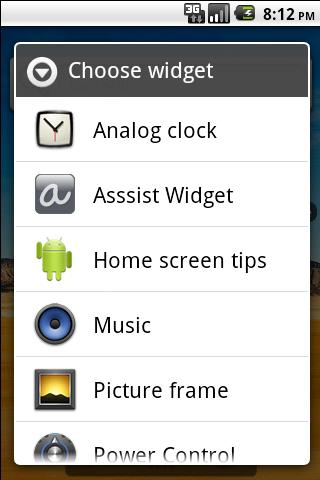 Asssist Dribbble Widget - screenshot