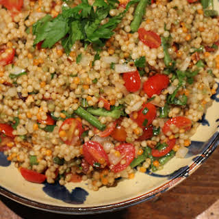 Israeli Couscous Salad with Fresh Herbs.