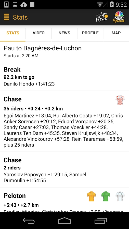 NBC Sports Tour de France Live - screenshot