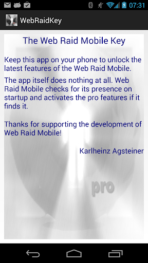 Web Raid Mobile Pro Key