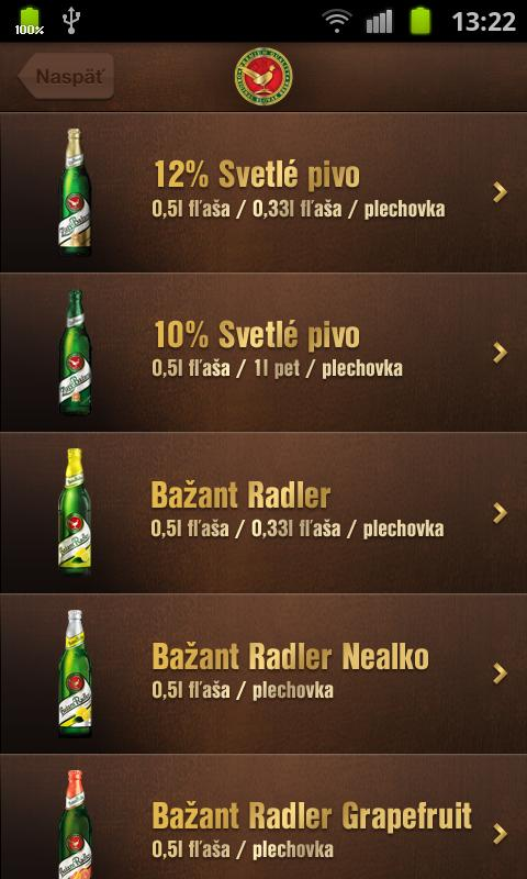 Zlatý Bažant- screenshot