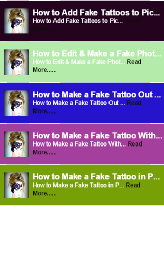 Fake Tattoos to Pictures