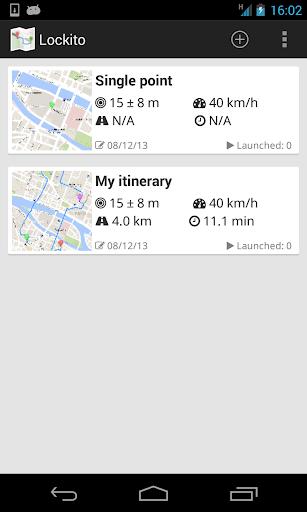 Lockito – Fake GPS itinerary