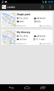 Lockito – Fake GPS itinerary – Miniaturansicht des Screenshots