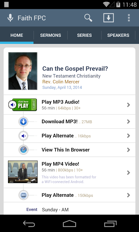 Faith Free Presbyterian Church- screenshot