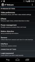 Screenshot of IP Webcam