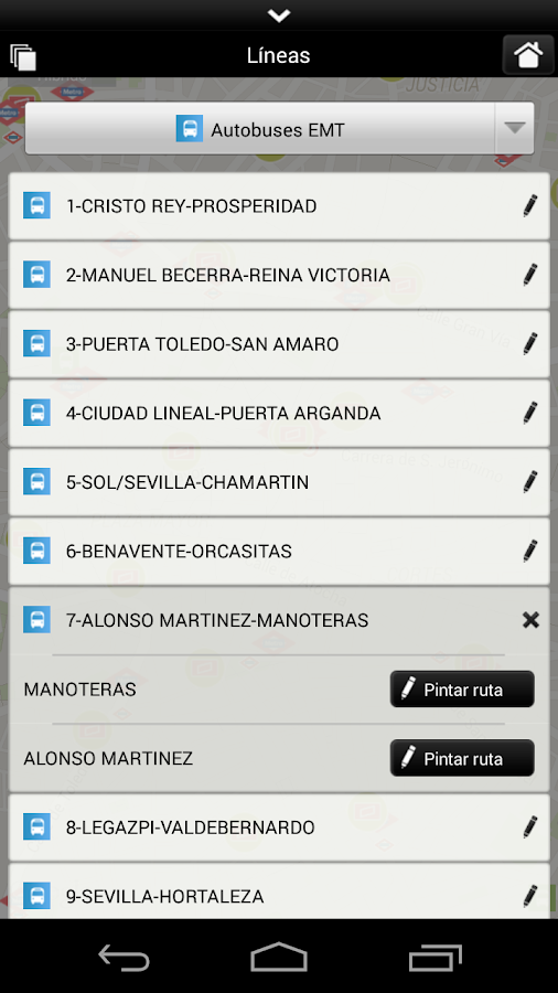 Transporte de Madrid CRTM- screenshot