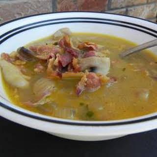 Shiitake Mushroom and Cheddar Soup.