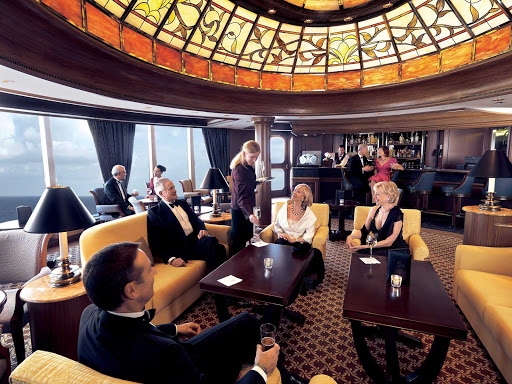 Cunard-Queen-Victoria-Grills-Lounge - Inside the famed Grills Lounge aboard Queen Victoria, where you can relax, enjoy a cocktail and chat up new friends.