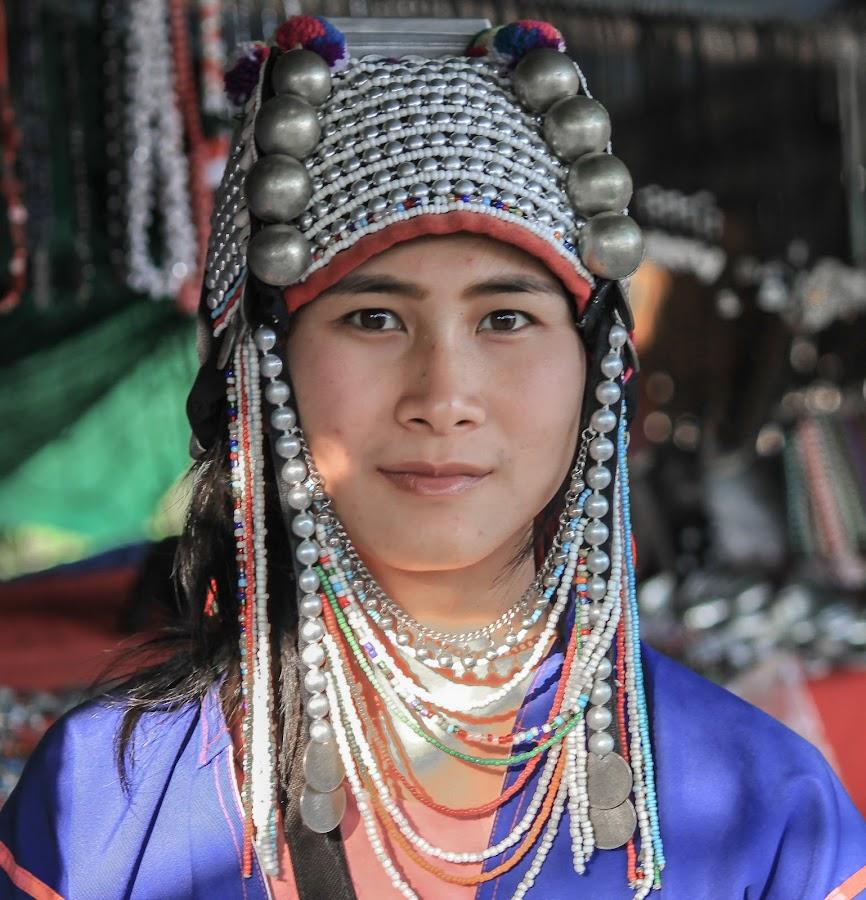 Lady - Akha tribe by Ram Ramkumar - Novices Only Portraits & People ( akha tribe, thailand hilltribe, hilltribe, thailand tribe, tribal ornaments,  )