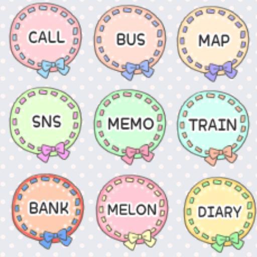 CUKI Theme Pastel doily icon LOGO-APP點子
