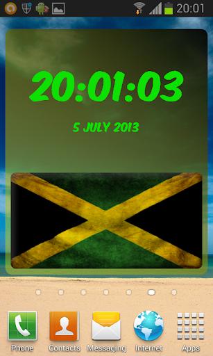 Jamaica Digital Clock