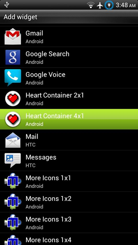Heart Container Battery Meter - screenshot