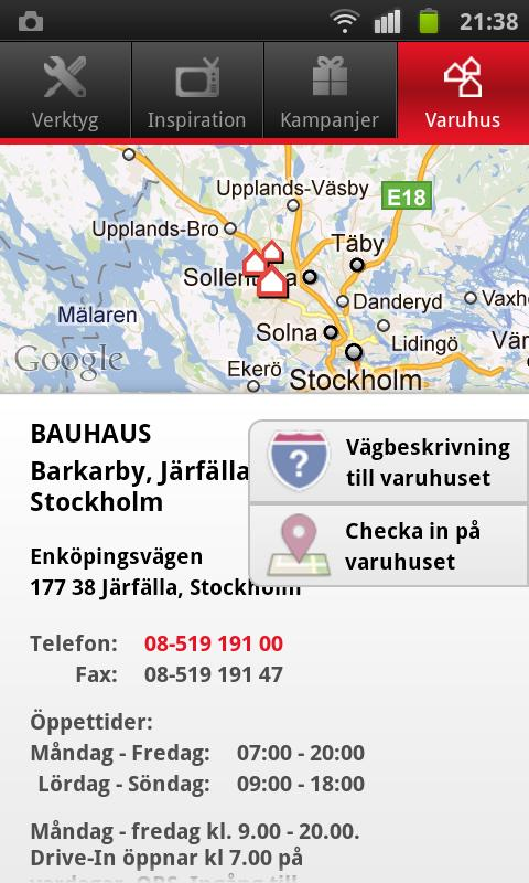 BAUHAUS Sverige - screenshot