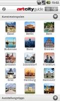Screenshot of art city guide