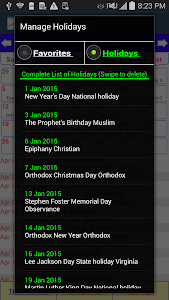 Holiday Calendar v2.0