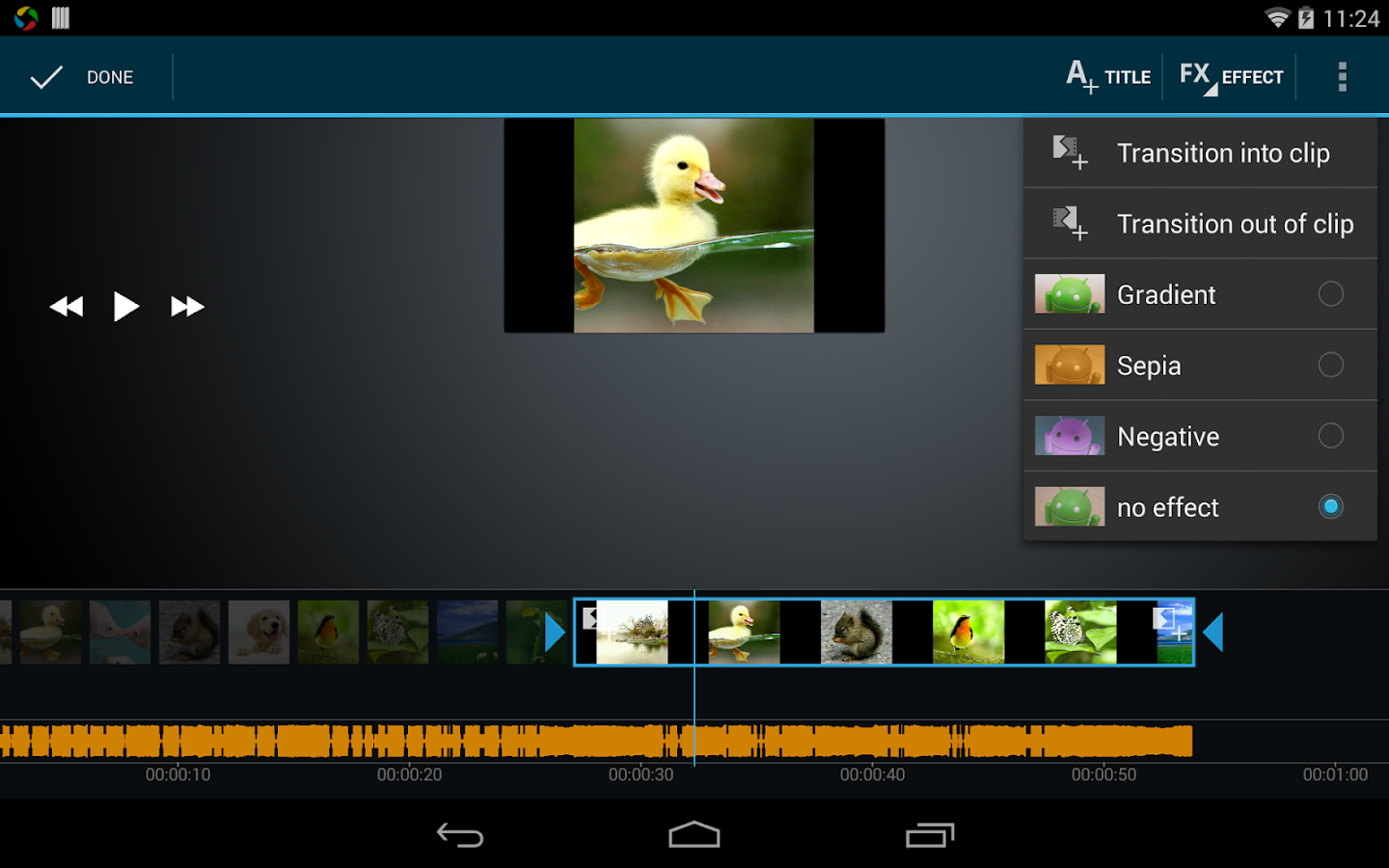 Video Maker Movie Editor – Capture d'écran