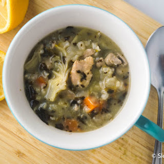 Lemon Chicken Artichoke Soup