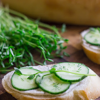 Cucumber Sandwiches With Whipped Goat Cheese