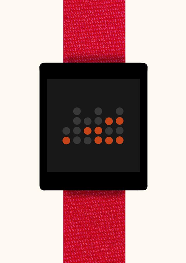 Binary Watch Face - screenshot