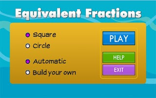 Screenshot of Equivalent Fractions