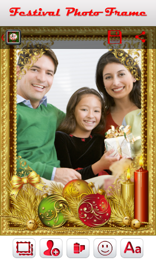 Christmas Festival Photo Frame