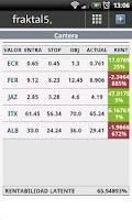 Screenshot of fraktal5 - Stock Market Quotes