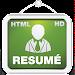 Resume Creator HD + HTML Icon
